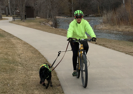 Tabaliah w Marna Biking Spearfish South Dakota 2017-03-08