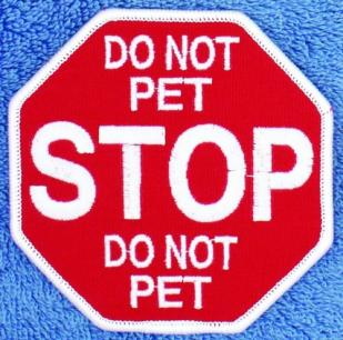 Stop Do No Pet Service Dog Patch