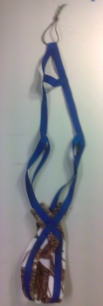 Blue Recreational Harness with Snow Camo