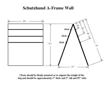 A Frame or Scaling Wall Specifications Schutzhund