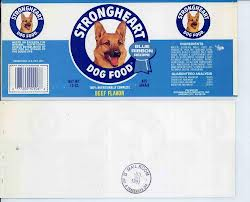 Strong Heart Dog Food Lable